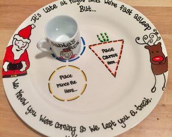 Personalised christmas treats plate