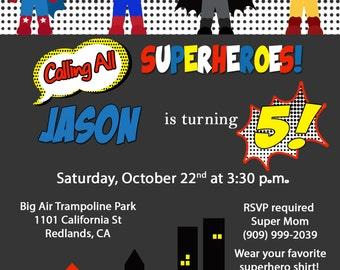 Superhero Invitation-African American