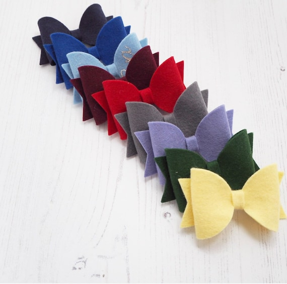 Felt School Bow - can be personalised