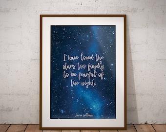 Star Wall Art, Night Sky Print, Star Print, Nursery Decor, Instant Download, Printable, Star Nursery Decor, Digital Printable, Blue Nursery