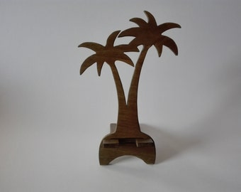 Wooden phone stand Palm, Phone holder for smartphone, Phone docking station, iPhone stand, Charging Station