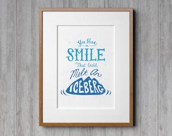 Quote Prints, Boys Room Decor, Boys Decor, Boys Wall Decor, Wall Art, Children's Room, Screen Print, Retro, Typography, Hand Lettering