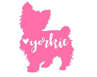 Yorkie Vinyl Decal | Dog Decal | Pet | Personalized Decal | Yeti Cup Decal | Laptop Sticker | Car Decal | Window Sticker