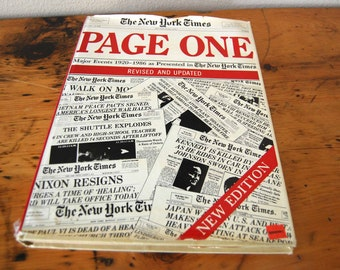 Vintage New York Times Page One Book Major Events 1920-1986 as Presented in The New York Times from The Eclectic Interior