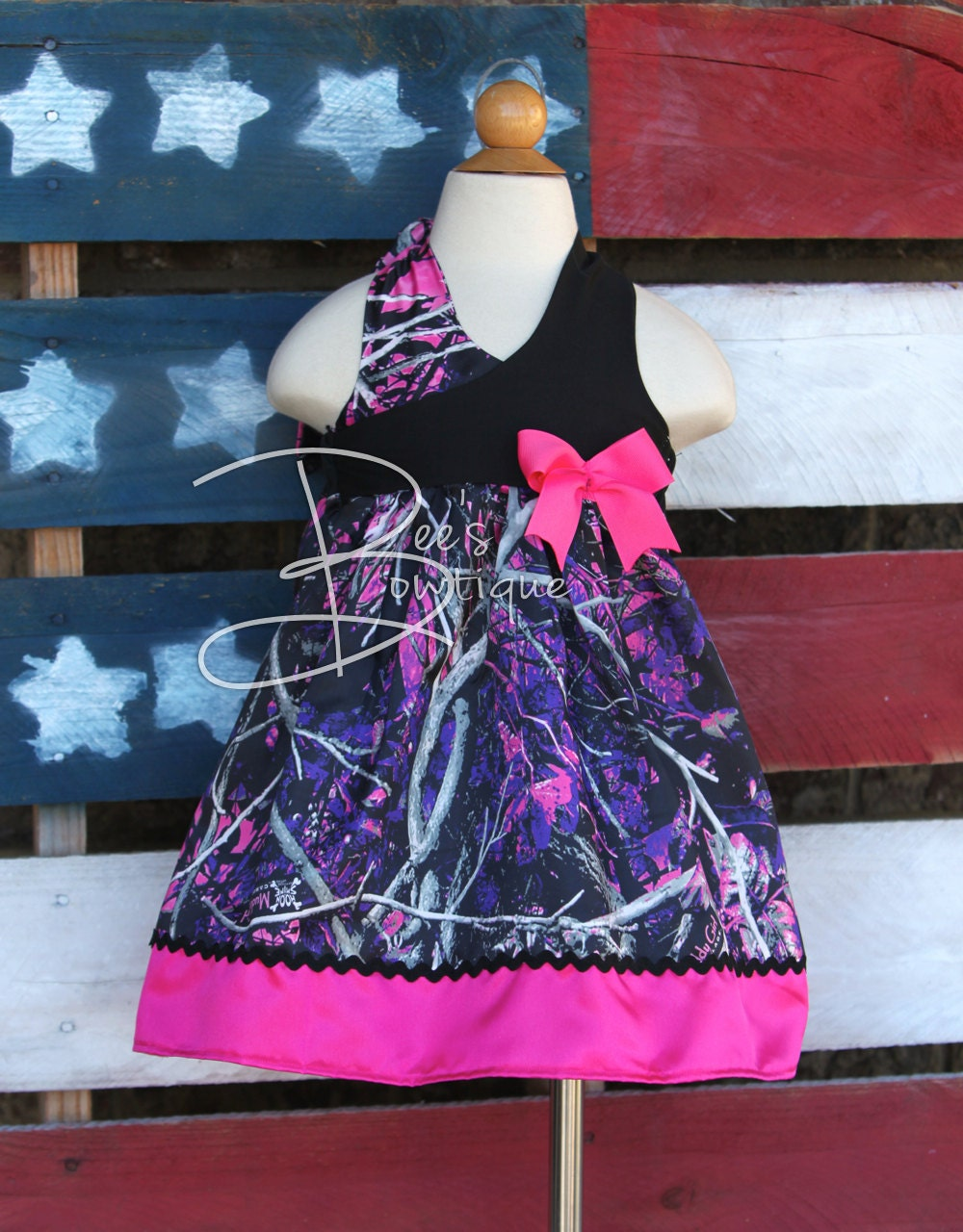 Girls Camo Halter Dress Made With Muddy Girl