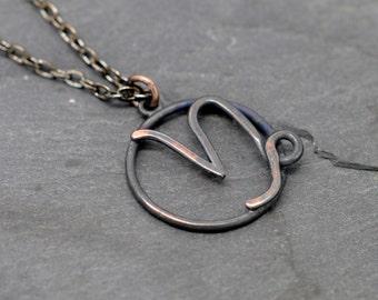 Capricorn zodiac sign necklace