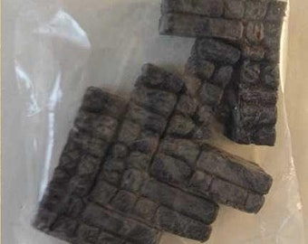 28mm Hand Painted Terrain Accessories: Dungeon Wall Segment 1''x1'' (4) - Legendary Realms Terrain