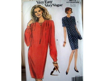 Vogue Pattern 8412 - Vintage Dress Pattern - Uncut