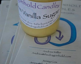 Warm Vanilla Sugar Candle: Hand Poured, Triple Scented Soy-Paraffin Candle