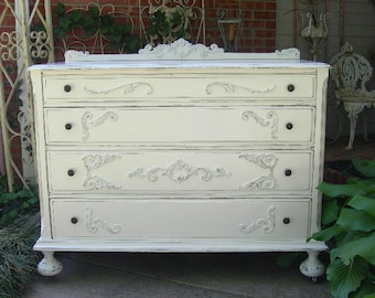 shabby chic furniture bedroom. Beautiful White Dresser Shabby Chest Chic Furniture Painted Antique Bedroom FOR CUSTOM ORDER