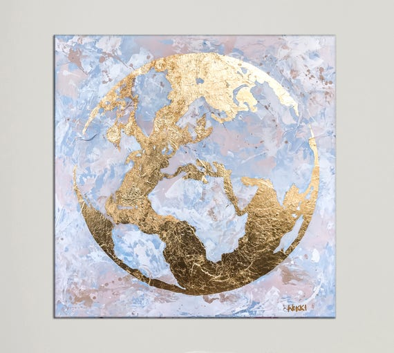 World map canvas art on canvas modern art map of the world like this item gumiabroncs Gallery