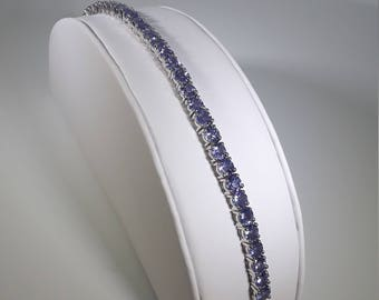 Round Tanzanite Bracelet