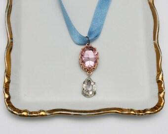 Rose-blue pendant