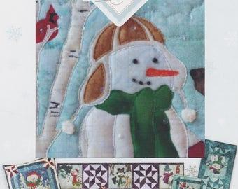 Iced to Meet You, Truly McKenna Art Fabric Panel Print by McKenna Ryan, Snow Buds Series