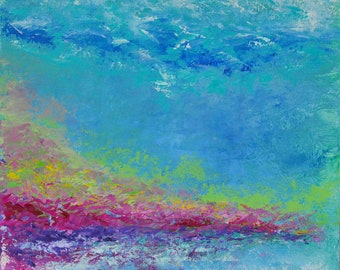 I Was a Stranger #3 - Original Abstract Oil Painting, ready to hang