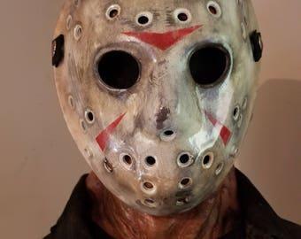 Custom Friday the 13th Jason Voorhees Hockey Masks (Halloween/Cosplay)