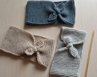 Knitted headband Warm headband Grey headband Fall headband Woman gift idea