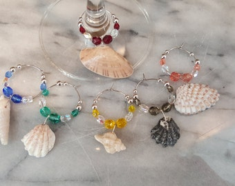 Shell Shells Wine Charms Real Shells