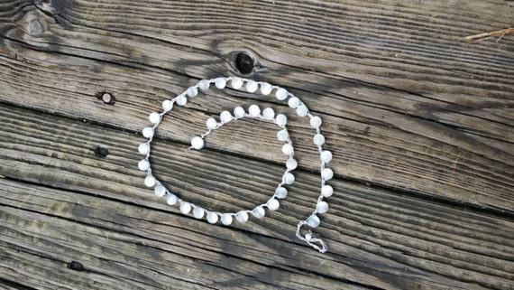 Crochet Beaded Wrap Bracelet Bohemian Wrap bracelet Yoga Bracelet Beach Bracelet Layering Bracelet Cat's Eye Bead Bracelet Crochet Necklace