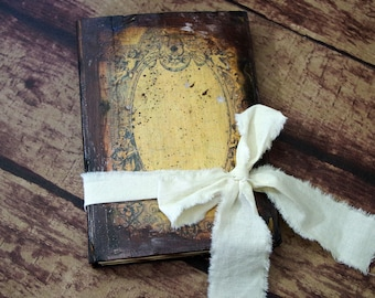 Old notebook - travel journal - men journal - pocket journal - rustic diary - medieval notebook - country wedding guestbook - Vintage Barn