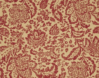Fairhaven Red cotton fabric by the yard Magnolia Home Fashions