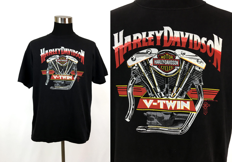 Vintage 1987 harley davidson shovelhead v twin t shirt xl zoom kristyandbryce Image collections
