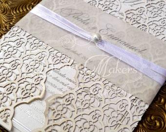 Moorish Leaves Laser Cut Invitation