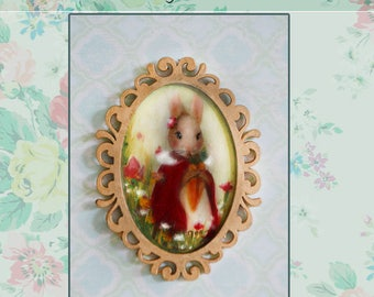 Miniature wall frame, Printed copy of Chepidolls Oil paint.