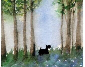 Scottie Dog  Art Print 'Where Are You Mr Squirrel ' #168