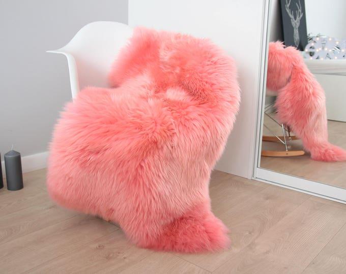 Genuine Natural Pink Sheepskin Rug Sheepskin Throw  Scandinavian Style | Scandinavian Rug| Pink Sheepskin