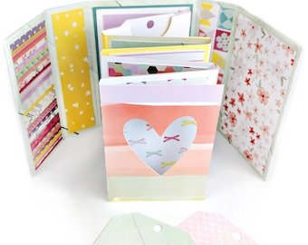 Mini Album Card with Tags File .SVG .DXF