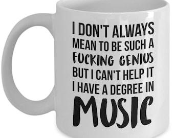 Musician Graduation Gift, Music Gift, Music Mug, Musician Gift, Musician Mug, Gift For Musician, Personalized Musician, Music Degree