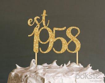 60th birthday cake Etsy