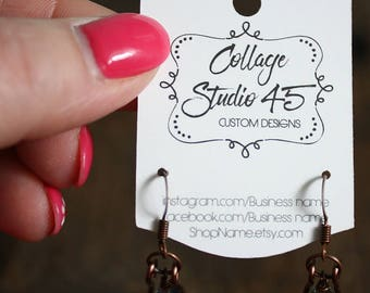 Custom hanging Mini Earring Cards 1.5 inches by 2 inches