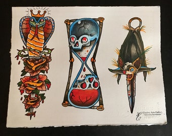 Traditional tattoo flash set 2. Sheet 1