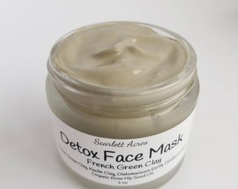 Detox face Mask, Bentonite Clay Mask, Charcoal Face Mask, Rhassoul Clay Mask, Kaolin Clay Mask, French Green Clay, Clay Mask, acne face mask
