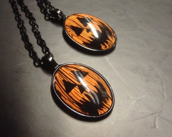 Long Jack Halloween Cabochon Necklace