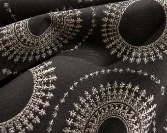 Black and White Circle Design Fabric