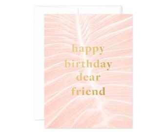"""Palms """"Happy Birthday Dear Friend"""" Greeting Card"""