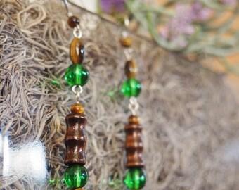 Feel of the Forest Beaded Earrings