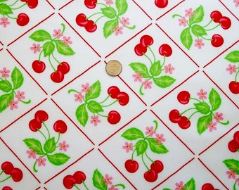Laminated Cotton: Oh-Cherry-Oh by Me and My Sister Design for Moda - 1 Yard