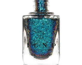 Cold Fusion -  Blue, Teal, Purple Ultra Chrome Color Shifting Flakie Nail Polish