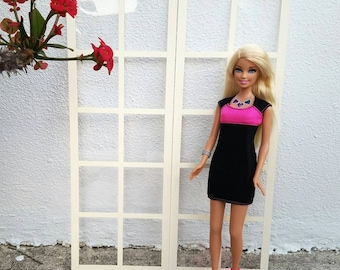 Elegant French Door for 1/6th fashion dolls / 1:6 scale / Playscale Room