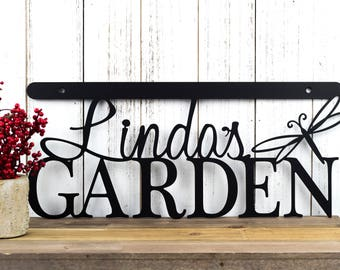 Custom Garden Name Sign | Metal Sign | Custom Metal Sign | Metal Wall Art | Garden | Name | Gardening | Personalized Sign