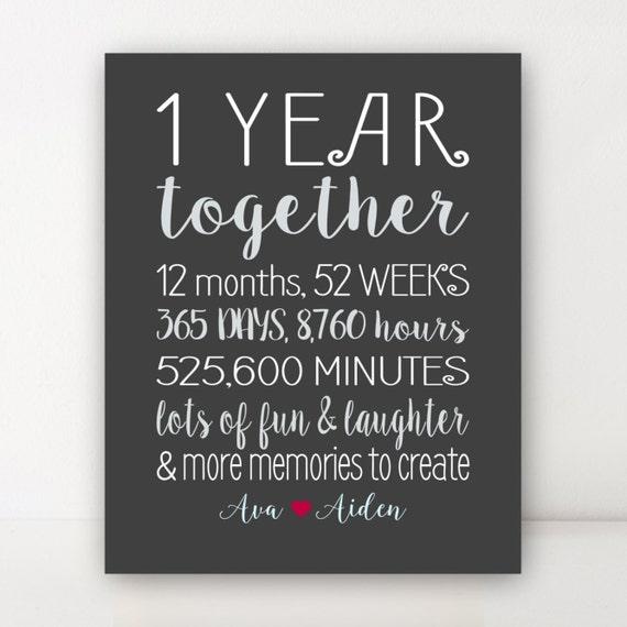 1 Year Anniversary Gifts For Boyfriend
