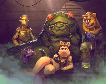 Star Wars Muppets Print