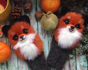 Mittens handmade with foxy