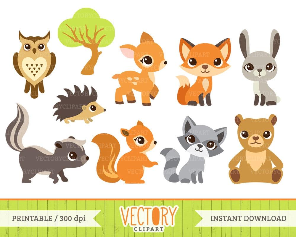 10 Woodland Animal Clipart Forest Animals Animal Clip Art