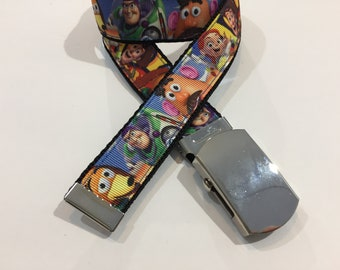 "Toy Story Belt in All Sizes with a Military Buckle 1"" Wide"