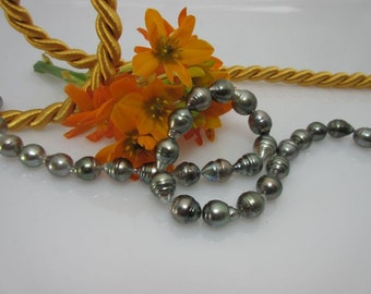 Pearl Necklace Pearls Necklace Baroque pearl strand 9-11 mm No. 17